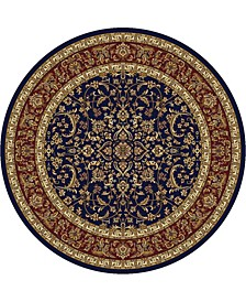 "CLOSEOUT! 1318/1546/NAVY Navelli Blue 5'3"" x 5'3"" Round Area Rug"