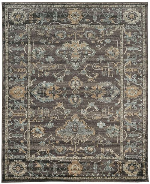 """KM Home CLOSEOUT! 3562/0040/LIGHTBROWN Cantu Brown 3'3"""" x 4'11"""" Area Rug"""