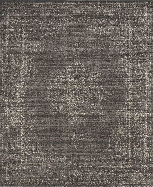 """KM Home CLOSEOUT! 3563/0042/LIGHTBROWN Cantu Brown 7'10"""" x 10'6"""" Area Rug"""