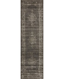 "CLOSEOUT! 3563/0043/LIGHTBROWN Cantu Brown 2'2"" x 7'7"" Runner Rug"