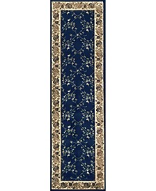 "CLOSEOUT! 1590/4004/NAVY Pesaro Blue 2'2"" x 7'7"" Runner Rug"