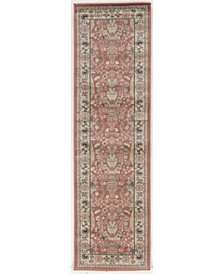 "CLOSEOUT! 3812/1033/TERRACOTTA Gerola Red 2'2"" x 7'7"" Runner Rug"