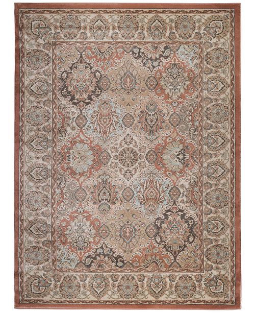 """KM Home CLOSEOUT! 3802/0020/TERRACOTTA Gerola Red 3'3"""" x 4'11"""" Area Rug"""