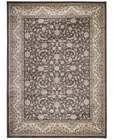 "CLOSEOUT! 3810/0010/BROWN Gerola Brown 3'3"" x 4'11"" Area Rug"