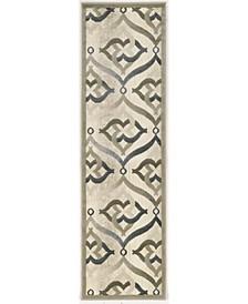 "CLOSEOUT! 3796/1003/BONE Imperia Ivory/ Cream 2'2"" x 7'7"" Runner Rug"