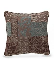 "Galleria Brown 18"" Square Decorative Pillow"