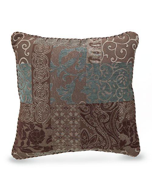 Croscill Galleria Brown 40 Square Decorative Pillow Decorative Amazing Brown And Turquoise Decorative Pillows