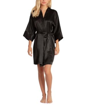 Women's Short Satin Wrap Robe