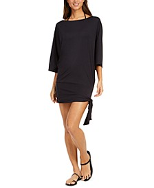Side-Tie Swim Cover-Up