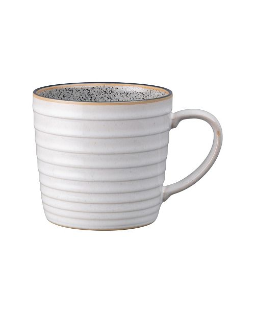 Denby Studio Craft Grey/White Ridged Mug