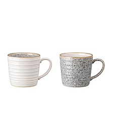 Studio Craft Grey 2 Piece Ridged Mug Set