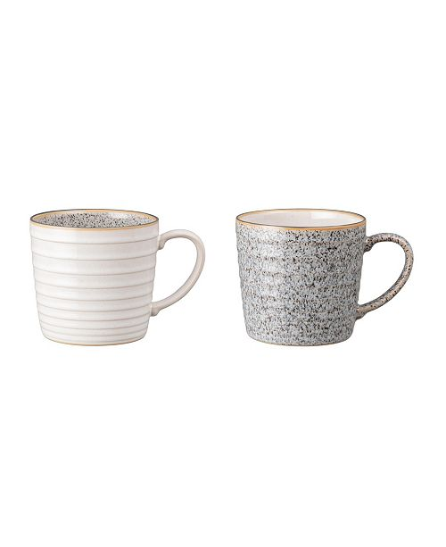 Denby Studio Craft Grey 2 Piece Ridged Mug Set