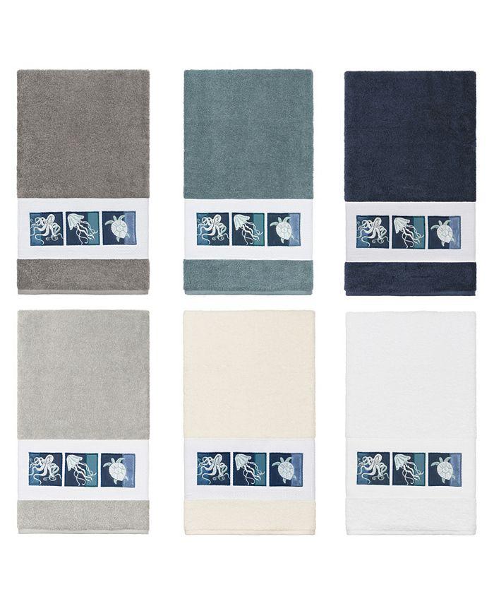 Linum Home - 100% Turkish Cotton Ava Embellished Bath Towel