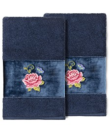 100% Turkish Cotton Rebecca 2-Pc. Embellished Hand Towel Set