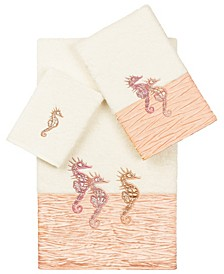100% Turkish Cotton Sofia 3-Pc. Embellished Towel Set
