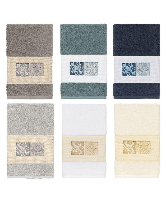 Linum Home - 100% Turkish Cotton Vivian Embellished Hand Towel