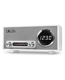 Innovative Technology Bluetooth Digital Clock Stereo with FM Radio and USB Charging
