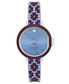 Women's Park Row Blue Silicone Strap Watch 34mm