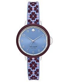 Kate Spade New York Women's Park Row Blue Silicone Strap Watch 34mm