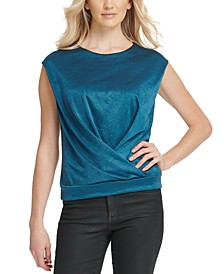 Overlap Cap-Sleeve Top