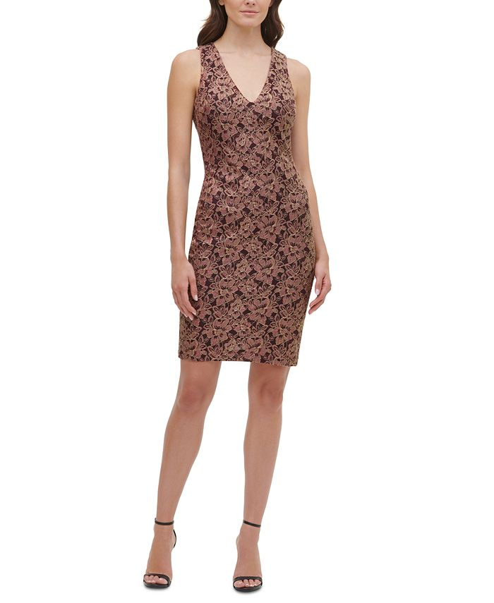 GUESS - Metallic Lace Bodycon Dress