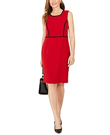 Piping-Trim Sheath Dress