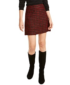 Metallic Tweed Mini Skirt, Created For Macy's