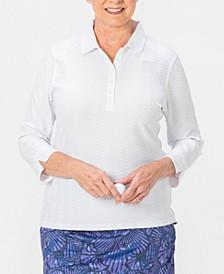 Grace 3/4 Sleeve Polo Plus