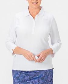 Nancy Lopez Grace 3/4 Sleeve Polo Plus