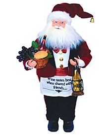 """17"""" Wine Steward Santa"""