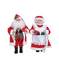 """15.5"""" Mr. and Mrs. Claus Set"""