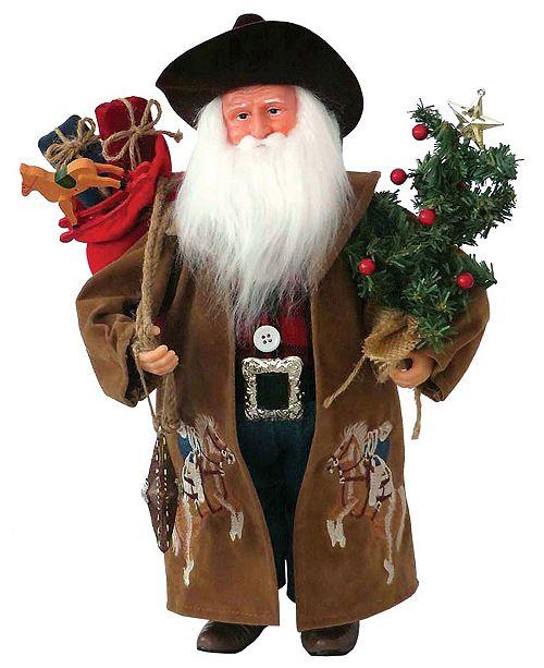 """Santa's Workshop 16"""" Ride'm Cowboy Claus"""