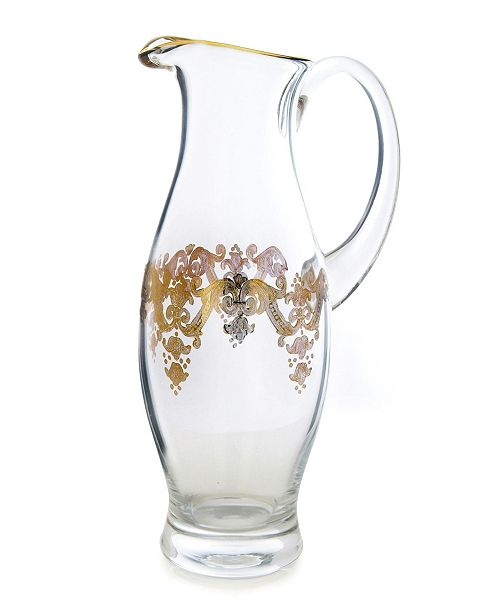 Classic Touch Pitcher with 24k Gold Artwork