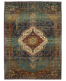 Meraki Solace Peacock 2'4 x 7'10 Runner Area Rug