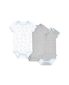Snugabye Dream Baby Boys Short Sleeve Bodysuit 3 pack in Giftbox