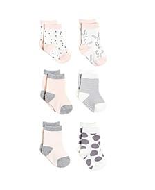 Gertex Dream Infant Girls 6 Pack Socks in Giftbox