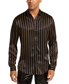 I.N.C. Men's Big & Tall Reddie Striped Shirt, Created For Macy's