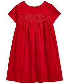 Little Girls Smocked Cotton Corduroy Dress