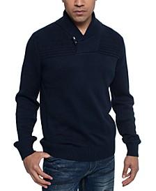 Men's Ribbed Shawl Collar Sweater
