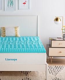 """Linenspa Signature Collection 2"""" ZonedGel Memory Foam Mattress Topper"""