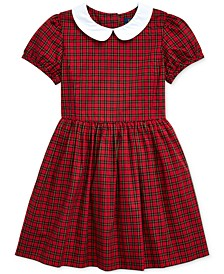 Toddler Girls Tartan Cotton Poplin Dress