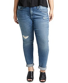 Trendy Plus Size Not-Your-Boyfriend Jeans
