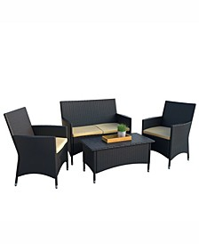 Cascade 4 Piece Patio Set with Coffee Table