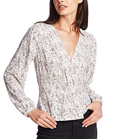 Long-Sleeve Floral Print Top