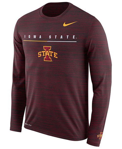 Nike Men's Iowa State Cyclones Velocity Travel Long Sleeve T-Shirt
