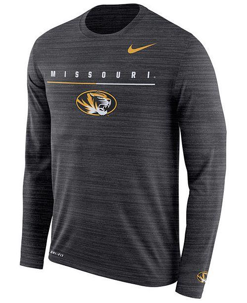 Nike Men's Missouri Tigers Velocity Travel Long Sleeve T-Shirt