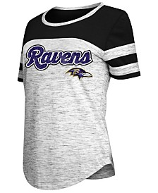 5th & Ocean Women's Baltimore Ravens Space Dye T-Shirt