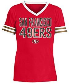 Big Girls San Francisco 49ers Sequin Stripe T-Shirt