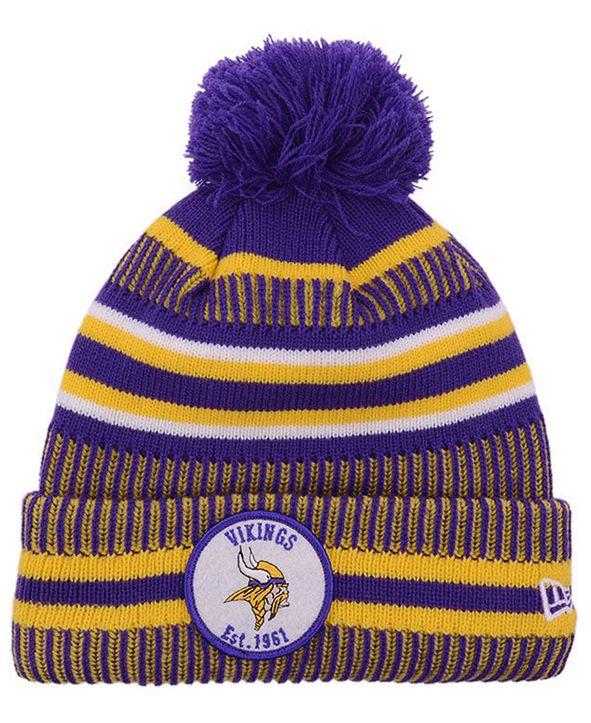 New Era Minnesota Vikings Home Sport Knit Hat
