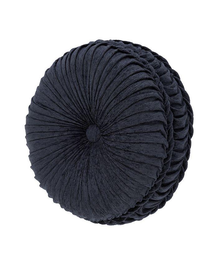 J Queen New York - Luciana   Indigo Indigo Tufted Round Decorative Throw Pillow